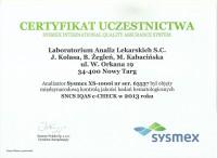 Sysmex EQAS 2013